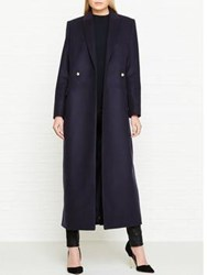 Lk Bennett L.K. Della Long Coat Blue Sloane Blue