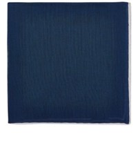 Simonnot Godard Men's Cotton Basic Handkerchief Navy White Navy White