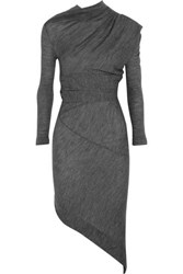 Vivienne Westwood Angloania Asyetric Wool Jersey Dress Gray