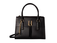 Calvin Klein Rae Serena Satchel Black Gold Satchel Handbags