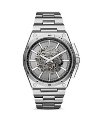 Michael Kors Wilder Skeleton Dial Automatic Watch 44Mm Gray