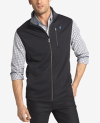Izod Men's Big And Tall Spectator Knit Vest Black