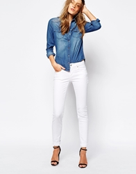 Boss Orange Cropped Jeans With Ankle Zip White