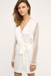 Anthropologie Flora Nikrooz Showstopper Robe Ivory Xs Sweaters