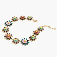 J.Crew Floral Medallion Necklace Cornflower Blue