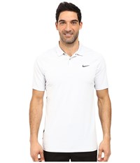 Nike Tiger Woods Vl Max Swing Knit Heather White Pure Platinum Reflect Black Men's Short Sleeve Pullover