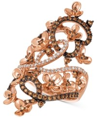 Le Vian Chocolatier Crazy Collection Diamond Fancy Scroll Floral Ring 1 1 6 Ct. T.W. In 14K Rose Gold