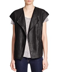 Vince Cap Sleeve Leather Jacket Black
