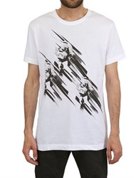 Karl Lagerfeld Printed Heads Cotton T Shirt