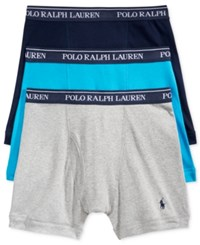 Polo Ralph Lauren Boxer Brief 3 Pack Maui Blue Andover Heather Navy