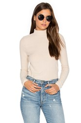 Project Social T Bree Ribbed Long Sleeve Tan