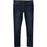 River Island Mens Dark Blue Ri Flex Danny Super Skinny Jeans