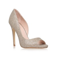 Lipsy Bethan High Heel Peep Toe Court Shoes Gold