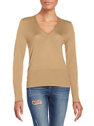 Rag And Bone Jessica V Neck Sweater Tan