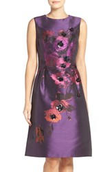 Rickie Freeman For Teri Jon Women's Embellished Jacquard Fit And Flare Dress