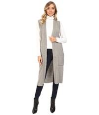 Echo Knit Cross Over Vest Heather Grey Women's Vest Gray