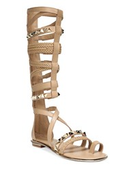 Fergie Smith Gladiator Toe Ring Sandals Croissant
