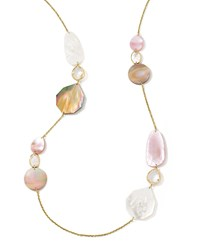 Ippolita 18K Gold Ondine Multi Shape Necklace In Dahlia 37
