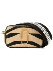 Marc Jacobs Animal Print Shoulder Bag Nude And Neutrals
