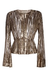 Elie Saab Embroidered Sequin Jacket Gold