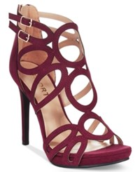 Report Triton Caged Dress Sandals Women's Shoes Wine