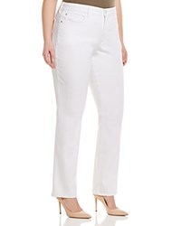 Nydj Plus Marilyn Straight Leg Jeans In Optic White