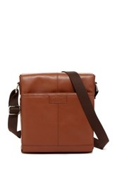 Original Penguin Leather North To South Crossbody Brown