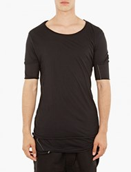 Thom Krom Black Double Layer T Shirt