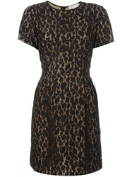 Michael Michael Kors Leopard Lace Shortsleeved Dress Black