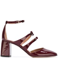 Red Valentino Ankle Strap Pumps Pink And Purple