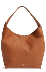 Vince Camuto Ty Leather Hobo Brown Caramel