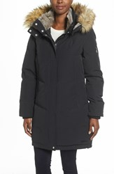 Vince Camuto Women's Down And Feather Fill Parka With Faux Fur Trims