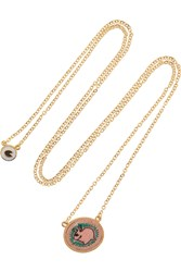 Marc By Marc Jacobs Bunny Gold Tone And Felt Necklace