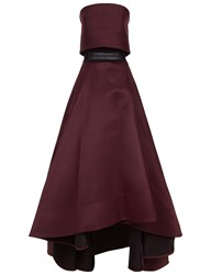 Maticevski Plum Strapless Conquer Gown Purple