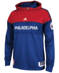 Adidas Men's Long Sleeve Philadelphia 76Ers On Court Shooter Shirt Blue