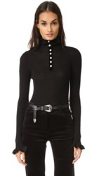 Philosophy Di Lorenzo Serafini Sweater With Ruffle Neck Black