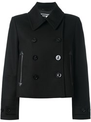 Mcq By Alexander Mcqueen Cropped Peacoat Black