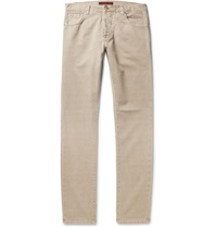 Isaia Slim Fit Denim Jeans Gray