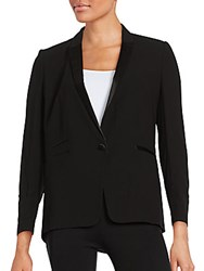 The Kooples Satin Trim Blazer Black