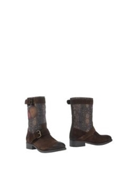 Desigual Ankle Boots Cocoa
