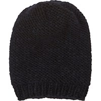 Anna Kula Women's Knit Slouchy Hat Black Blue Black Blue