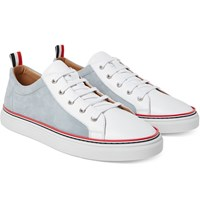 Thom Browne Leather And Nubuck Sneakers White