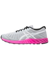 Asics Fuzex Lyte Neutral Running Shoes Mid Grey White Pink Glow