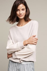 Anthropologie Blocked Terry Pullover Grey