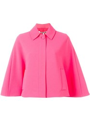 Mcq By Alexander Mcqueen Cropped Cape Pink And Purple