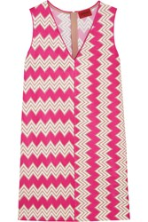 Missoni Crochet Knit Mini Dress Fuchsia