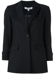 Elizabeth And James Peaked Lapel Blazer Black