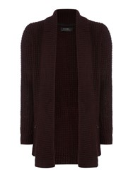 Religion Men's Chunky Knitted Cardigan Claret