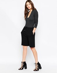 Just Female Lee Long Shorts Black