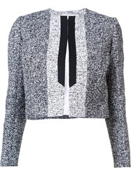 Carolina Herrera Cropped Jacket Black